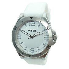 Fossil Uhr Uhren Herrenuhr BQ1173 Retro Traveler Silikon weiß Armbanduhr NEU