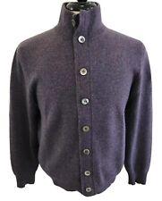 Brunello Cucinelli 100% Pure Cashmere Purple Luxe Cardigan Size 40 / 50 $2495