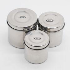 Dental Lab Item Stainless Steel Cotton Ball Gauze Tampon Jar Holder Dispenser