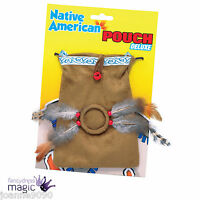 Native American Red Indian Pocahontas Fancy Dress Wild West Accessory Pouch Bag