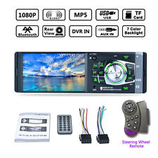 "1DIN 4.1"" Bluetooth In-Dash Stereo Radio HD Car MP5 MP3 USB AUX Player Camera FM"