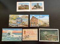 Lot of 6 Original Vintage Postcards - Atlantic City, New Jersey w/ Foldouts