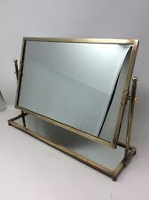 Vintage Charles Hollis Jones Brass Tilting Dressing Table Mirror