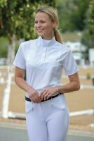Shires Short Sleeve Stock Competition Show Shirt in White - Ladies