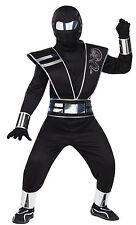 Child Black Mirror Ninja Halloween Kids Boys Outfit Fancy Dress Costume Large