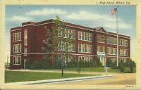 Milford Kent County Delaware High School 1930s Postcard