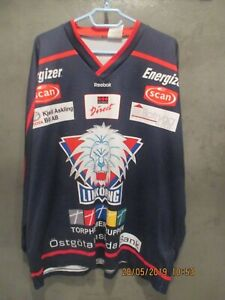 RARE VINTAGE LINKOPING SWEDEN SHL REEBOK ICE HOCKEY JERSEY SHIRT SIZE 5