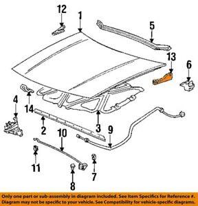 Hood-Lower Hinge Right Pontiac Grand AM 92 - 98 GM OEM  22590868 BN15