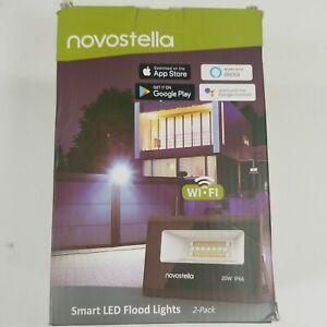 Novostella Smart LED Flood Light - 2 Pack. Wi-Fi. Works with Alexa and Google