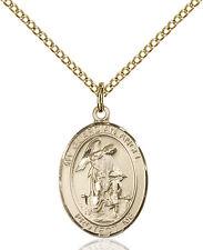 14K Gold Filled Guardian Angel Paratrooper Military Catholic Medal Necklace