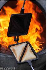 Hierro Fundido Sandwichera Doble Toastie barbacoa accesorios cocina Maker chimenea