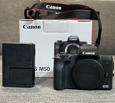 Canon EOS M50 24.1 MP Mirrorless Camera - Black (Body Only)