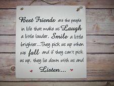 Handmade Shabby Chic Wall Plaque Friendship Best Friend Gift