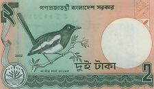 BANGLADESH billet neuf  2 TAKA 2002 OISEAU DHYAL  ou  MAGPIE ROBIN  Pick 6ce