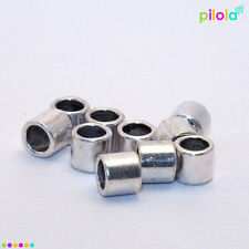 10 x smooth Tibetan style silver alloy bead, 6mm x 7mm 4mm hole