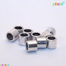 10 X Suave Tibetana Estilo aleación de plata bolas, de 6 mm x 7 mm 4mm agujero