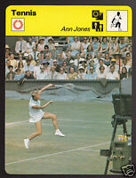 ANN JONES British Tennis Player Photo 1979 SPORTSCASTER CARD 53-20A