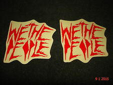 2 AUTHENTIC WETHEPEOPLE BMX BICYCLES RED STICKERS #101 / DECALS AUFKLEBER