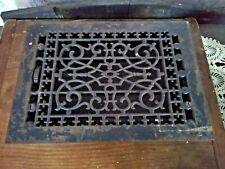 ANTIQUE VICTORIAN METAL HEAT FLOOR GRATE WITH LOUVERS TUTTLE & BAILEY CO NY