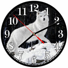"8"" WALL CLOCK - Wolf 17 Wolves Spiritual - Kitchen Office Bathroom Bar Bedroom"
