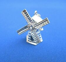VINTAGE STERLING SILVER CHARM CHIM DUTCH WINDMILL SAILS MOVE HOUSE 6 g