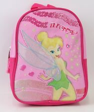 "NEW Tinker Bell 10"" Mini Backpack Girls Kids School Book Bag Pink Pink/Red Color"