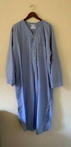 "BROOKS BROTHERS Mens Night Shirt 100% Cotton, Blue EUC! ""Nite Shirt"" Sleepshirt"