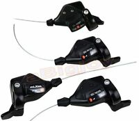 3x7/8/9S Thumb Shifters 21/24/27Speed MTB Mountain Bike Shift Levers w/Cables