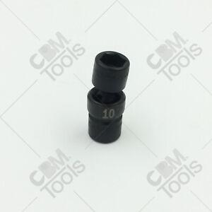 "SK Hand Tools 32360 10mm 6 Point 1/4"" Drive Swivel Metric Impact Socket"