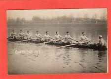Cambridge Rowing Team Boat Race 1913 RP pc unused W Field Ref U85