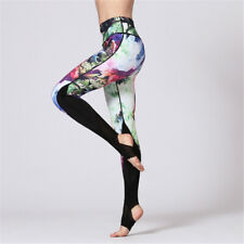 Womens Compression Sports Yoga Dance Foot Pants High Waisted Workout Leggings