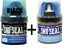 Sno Seal Black Neutral with Applicator Beeswax Snow Salt Water Guard Protection
