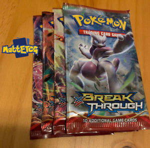 1 foil NEW factory sealed Pokemon XY BreakThrough booster pack