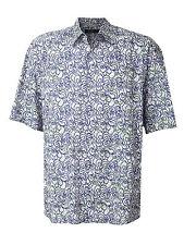 Men's Jhane Barnes Frequency Button Shirt Squiggle Wild Art Blue Green Vtg XXL