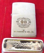 Zippo Cigarette Lighter O B Originals 1960