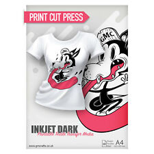 10 x A4 Printable HTV Iron On T Shirt Transfer Paper - Inkjet Dark