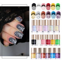 9ml Stamping Polish  Pearl Shiny Series Nail Art Varnish DIY NICOLE DIARY