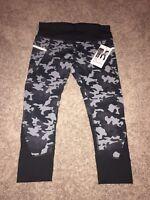 NEW Active Life Gray Black Camo Yoga Capri Leggings Sz Large MSRP $74