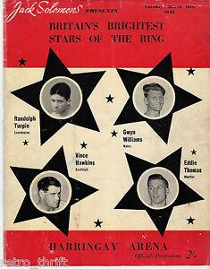 Jack Solomons Britain Boxing Program Mar16 1948 Harrington Arena Randolph Turpin