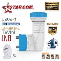 Ku Band Twin LNB 0.1db Universal Full Hd Digital High Gain Low Noise Satellite