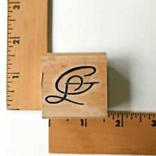 "Stamp Cabana Rubber Stamp Initials  ""GL"" - NEW"
