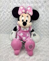"Disney Store 18"" Minnie Mouse Plush Pink Dress Genuine Original Authentic Patch"