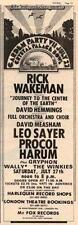 Rick Wakeman Procol Harum Winkies UK show advert '74 #1 ABCD