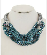 MARNI H&M Teal Seed Beads Necklace