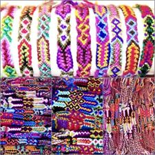 5 BRACELET PINK COTTON HEMP ADJUST ANKLET FRIENDSHIP WRISTBAND SURF boy girl new