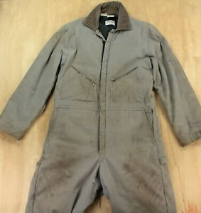 vtg usa made Walls Zero Zone faded & distressed coveralls LARGE TALL worn LT