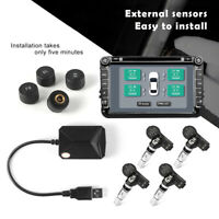 USB Android Display TPMS Tire Pressure Monitor System External/Internal Sensors