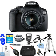 Canon EOS 1500D/Rebel T7 DSLR Camera with EF-S 18-55mm IS II Lens PRO BUNDLE NEW