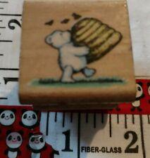 Honey bear, all night media, vintage 924,wooden,rubber,stamp