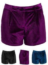 Pantalones cortos de mujer de terciopelo
